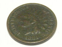 1881 INDIAN HEAD CENT EXTRA FINE