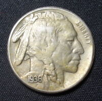 1936-S BUFFALO NICKEL EXTRA FINE   FINE INDIAN HEAD COIN