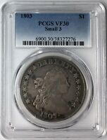 1803 $1 DRAPED BUST DOLLAR PCGS VF30 SMALL 3