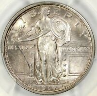 PCGS MS63 TYPE 1 1917 FH STANDING LIBERTY QUARTER