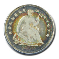 1850-O H10C LIBERTY SEATED HALF DIME ANACS VG08
