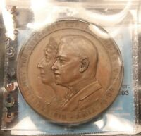 1921 1926 GOVERNOR GENERAL & LADY BYNG BRONZE MEDAL. DOUBLED OBV ERROR CCCS MS63