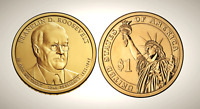 2014 D FRANKLIN D. ROOSEVELT PRESIDENTIAL SERIES DOLLAR UNC MS UNCIRCULATED