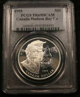 1995 CANADA SILVER DOLLAR PCGS PR69DCAM. NEAR PERFECT PROOF COIN.