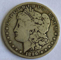1896-S MORGAN DOLLARCHOICE VG-F SLIDER WITH SUPERB EYE APPEAL