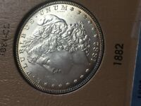 1882 P MORGAN SILVER DOLLAR UNCIRCULATED COIN
