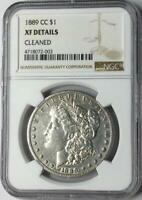 1889-CC $1 MORGAN SILVER DOLLAR NGC EXTRA FINE  DETAILS