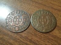 PORTUGAL AZORES 2 X 5 REIS COIN LOT: 1750   1751