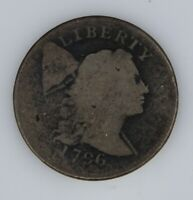 1796 DRAPED BUST LARGE 1C  LARGE CENT  ABOUT GOOD