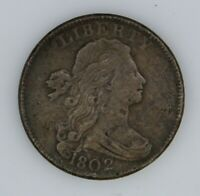 1802 DRAPED BUST LARGE 1C  LARGE CENT  FINE CONDITION