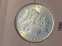 1890 P MORGAN SILVER DOLLAR COIN UNCIRCULATED BU