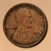 1914 D RARE KEY DATE LINCOLN WHEAT CENT   NO RESERVE