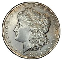 1881 $1 SILVER MORGAN DOLLAR- AU
