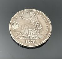 MODIFIED 1878 S TRADE DOLLAR TWIST MECHANICAL CARD COUNTER