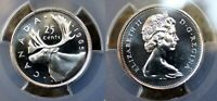 PCGS CERTIFIED PL66 CANADA 1965 25 CENT SILVER UNCIRCULATED GRADED COIN