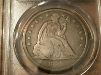 1859 O SEATED LIBERTY SILVER DOLLAR PCGS CERTIFIED F DETAIL.