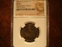 1831 TF CENTRAL AMERICAN REPUBLIC 2 REALES  NGC XF 40