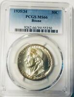 1935/34  BOONE COMMEMORATIVE SILVER HALF DOLLAR - PCGS MINT STATE 66 - MINT STATE 66