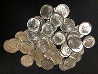 1961 P ROOSEVELT DIMES BU ROLL SILVER50 COINS $5 FACE VALUE