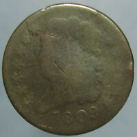 1809 CLASSIC HEAD HALF CENT   FAIR TO ABOUT GOOD CONDITION