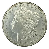 1885 $1 MORGAN SILVER DOLLAR UNC VAM 4 UNCERTIFIED