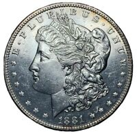 1881 $1 MORGAN SILVER DOLLAR, UNC
