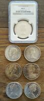 LOT OF  7  80  SILVER CANADA DOLLARS $7 FACE VALUE