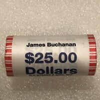 2010 US MINT JAMES BUCHANAN PRESIDENTIAL DOLLAR COIN ROLL $25 SEALED UNOPENED