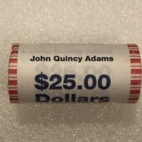 2008 US MINT JOHN QUINCY ADAMS PRESIDENTIAL DOLLAR COIN ROLL $25 SEALED UNOPENED