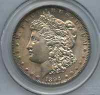 1894 MORGAN SILVER DOLLAR ORIGINAL PCGS GRADED AU 58  SUPER CLOSE TO UNC
