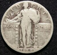 1929 D SILVER STANDING LIBERTY QUARTER G-VG BUY IT NOW