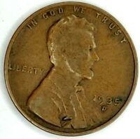 1935-D 1C LINCOLN WHEAT CENT 18RR0816 50 CENTS SHIPPING