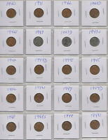 1940-1949S  LINCOLN WHEAT CENT COLLECTION