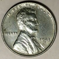 1943-D 1C LINCOLN WHEAT CENT STEEL UNC 18OTL0916 50 CENTS SHIPPING