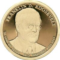 2014 S PRESIDENTIAL DOLLAR FRANKLIN D ROOSEVELT GDC PROOF 50 CENTS SHIPPING