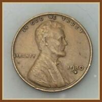 1930 D LINCOLN WHEAT CENT VF-EF
