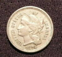 1874 3 CENT NICKEL AU-UNC BUY IT NOW OR OFFER