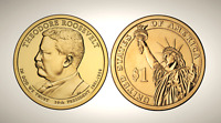 2013 P THEODORE ROOSEVELT PRESIDENTIAL SERIES DOLLAR UNC MS UNCIRCULATED