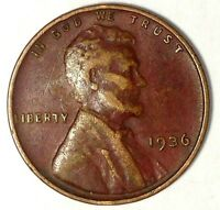 1936-P 1C LINCOLN WHEAT CENT 17RR2809-2 50 CENTS SHIPPING