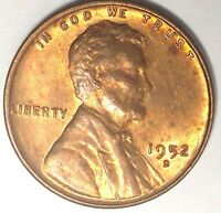 1952-D 1C LINCOLN WHEAT CENT UNC RED 17SR2311-2 50 CENTS SHIPPING