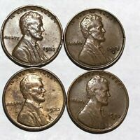 FOUR LINCOLN WHEAT CENTS. 1932 EXTRA FINE , 1932D EXTRA FINE , 1933 VF, 1933D VF. Q1