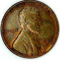 1949-S 1C LINCOLN WHEAT CENT UNC R/B 19LT1128-1 50 CENTS SHIPPING