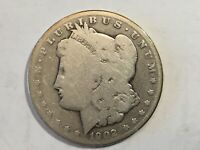 1902S AG MORGAN SILVER DOLLAR DATE FROM ALBUM COLLECTION CONDITION M12