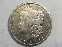 1891CC VF MORGAN SILVER DOLLAR DATE FROM ALBUM COLLECTION M12