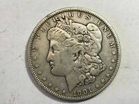 1901 EXTRA FINE   MORGAN SILVER DOLLAR DATE FROM ALBUM COLLECTION M12