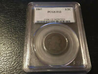 1807 1/2C DRAPED BUST HALF CENT PCGS GENUINE F 12  GREAT COL