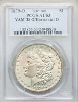 1879-O OVER HORIZONTAL O PCGS AU53 MORGAN DOLLAR  VAM-28 BEST PRICE ON EBAY