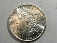 1882-S PL MORGAN SILVER DOLLAR DATE UNC FROM ALBUM COLLECTION MS CONDITION M12