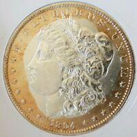 MORGAN SILVER DOLLAR 1894 P GEM BU END ROLL TONE MONSTER ULTRA  MS