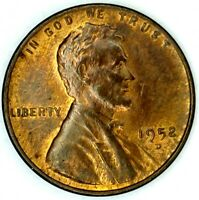 1952-D 1C LINCOLN WHEAT CENT UNC R/B 19OL1123 50 CENTS SHIPPING